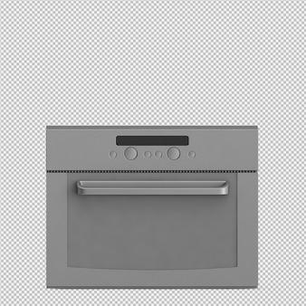 Isometric microwave 3d render