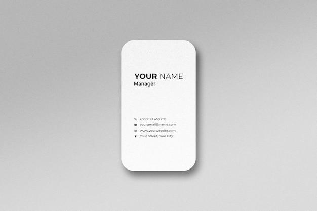 Isometric minimal business visiting card mockup