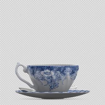 Isometric mug 3d render