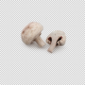 Isometric mushrooms