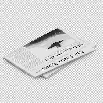 Isometric newspaper