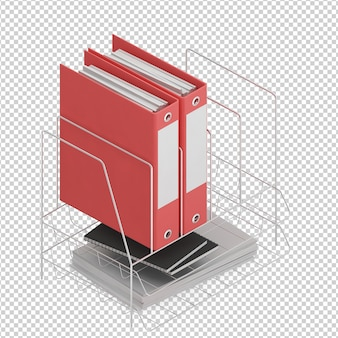 Isometric office accessories