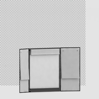 Изометрические офисное оборудование 3d render