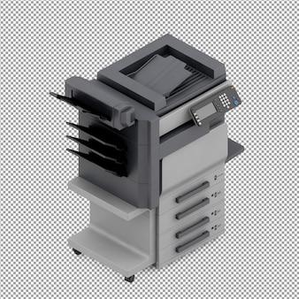 아이소 메트릭 사무 기기 3d 렌더링