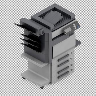 Isometric office equipment 3d render