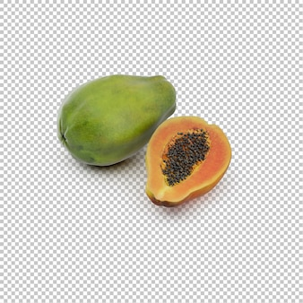 Isometric papaya