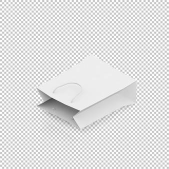 Isometric paper bag