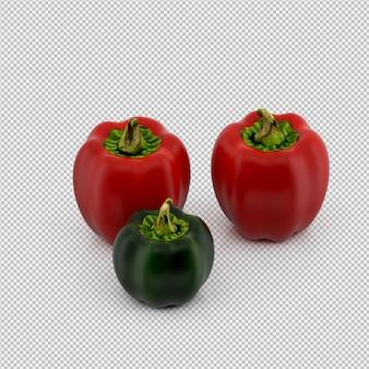 Изометрические перцы 3d визуализации