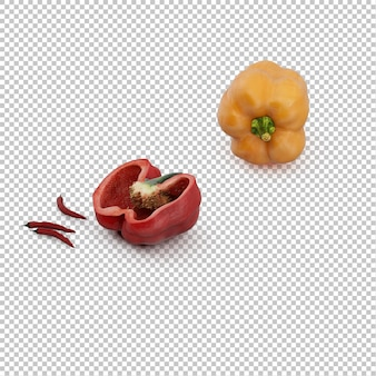 Isometric peppers