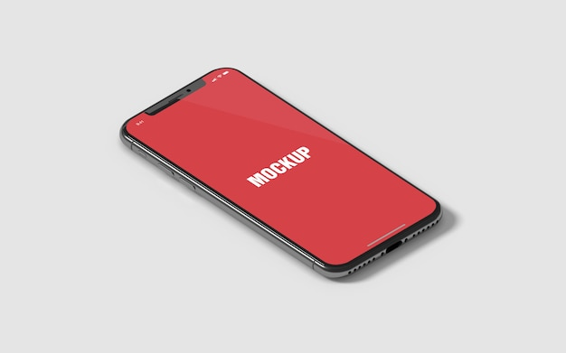 Isometric phone x mockup