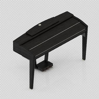 等尺性ピアノ3 dレンダリング