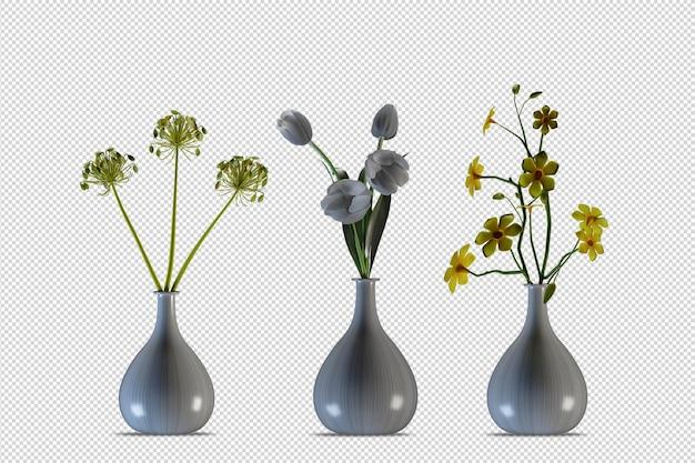 Изометрические растения 3d-рендеринга