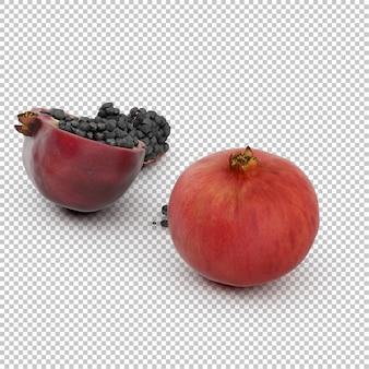 Isometric pomegranate