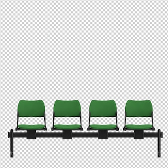 Isometric public chairs