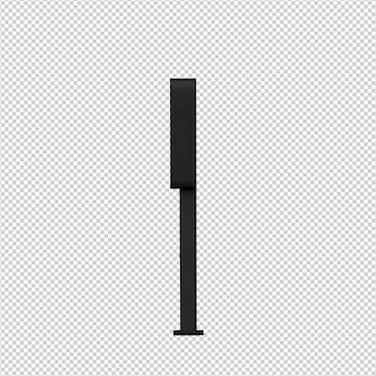 Изометрические общественный телефон 3d визуализации