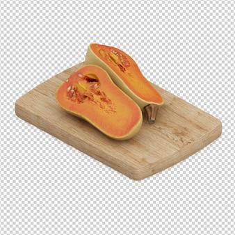 Isometric pumpkin