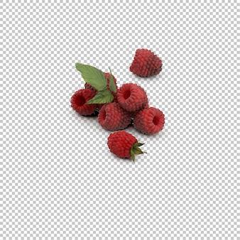 Isometric raspberries