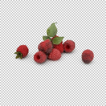 Isometric raspberries