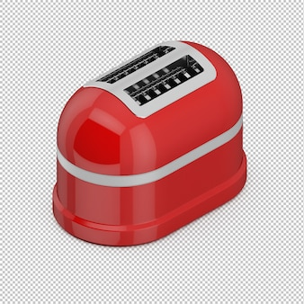 Isometric red toaster
