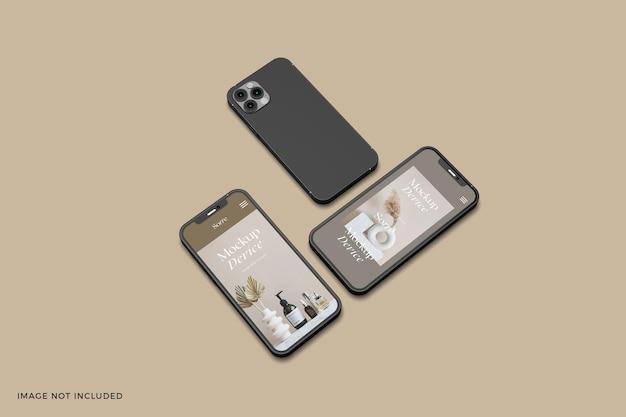 Isometric responsive devices screen mockup