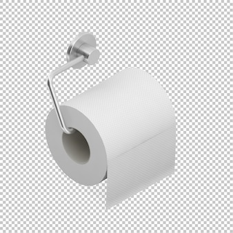 Isometric Roll of toilet paper