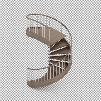 Isometric round stairs