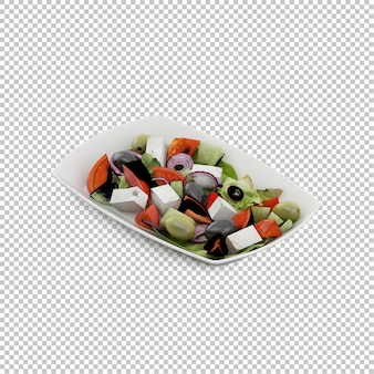 Isometric salad