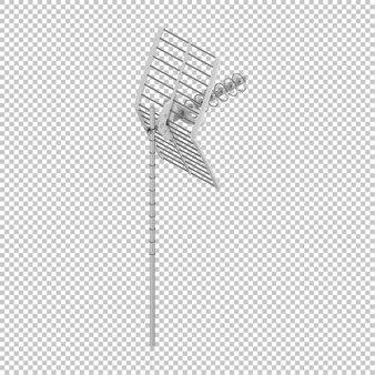 Isometric satellite antenna