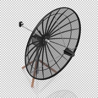 Isometric satellite dish