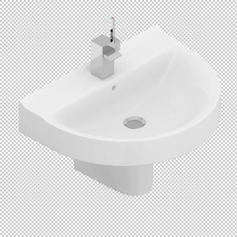 Isometric sink