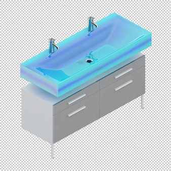 Isometric sinks
