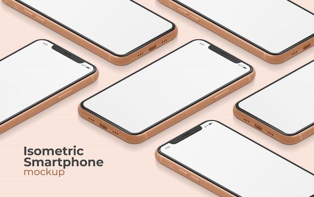 Изометрические макет смартфона