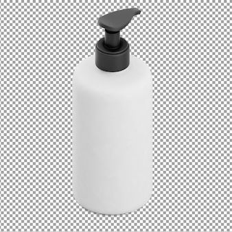 Isometric soap bottle