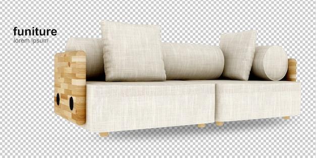 Изометрический диван в 3d-рендеринге