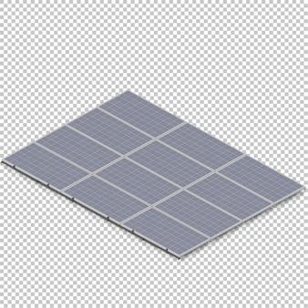 Isometric solar panel