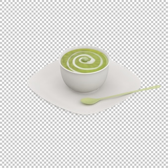Isometric soup on plate