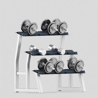 Изометрические спортивные и тренажеры 3d визуализации