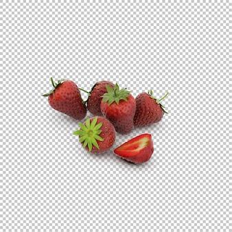 Isometric strawberries,