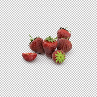 Isometric strawberries