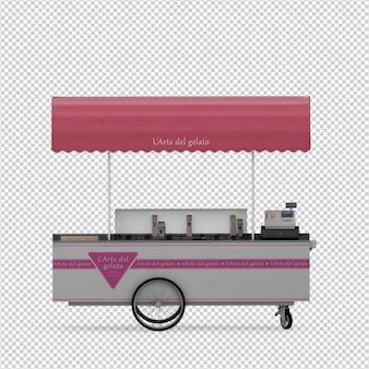 Isometric street food 3d render