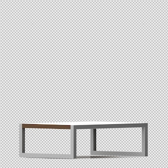 Isometric table 3d render