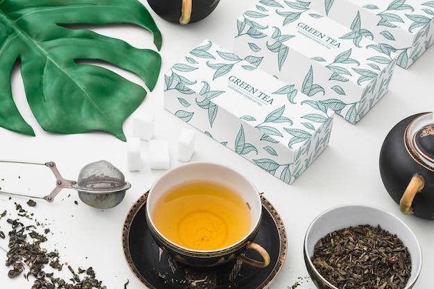 Isometric tea mockup