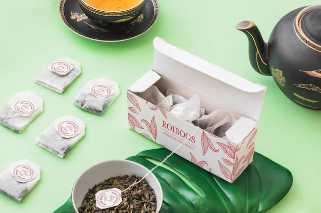 Isometric tea mockup