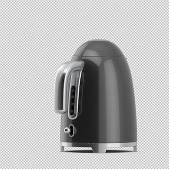 Isometric teapot 3d render