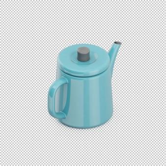 Isometric teapot