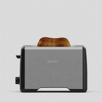 아이소 메트릭 토스터 3d 렌더링