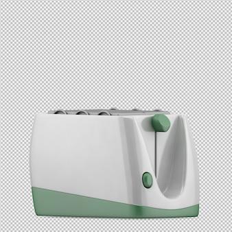 Изометрические тостер 3d визуализации