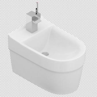 Isometric toilet sink