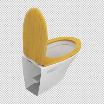 Isometric toilet