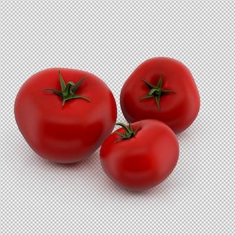 Isometric tomatoes 3d render